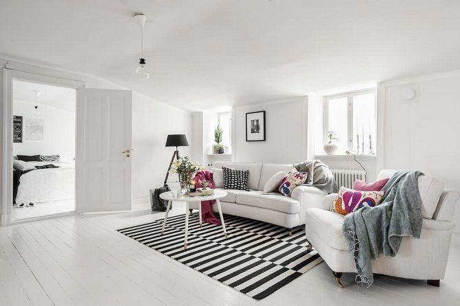 Anwenden von drei kleinen Wohnzimmer Interior Design-Ideen - wohnzimmer grau magenta