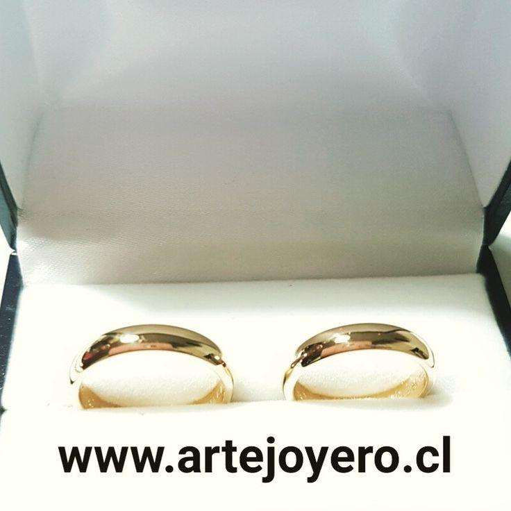 Argollas 12 gr 5 mm modelo media caña $ 550.000 +56977900432 www.artejoyero.cl