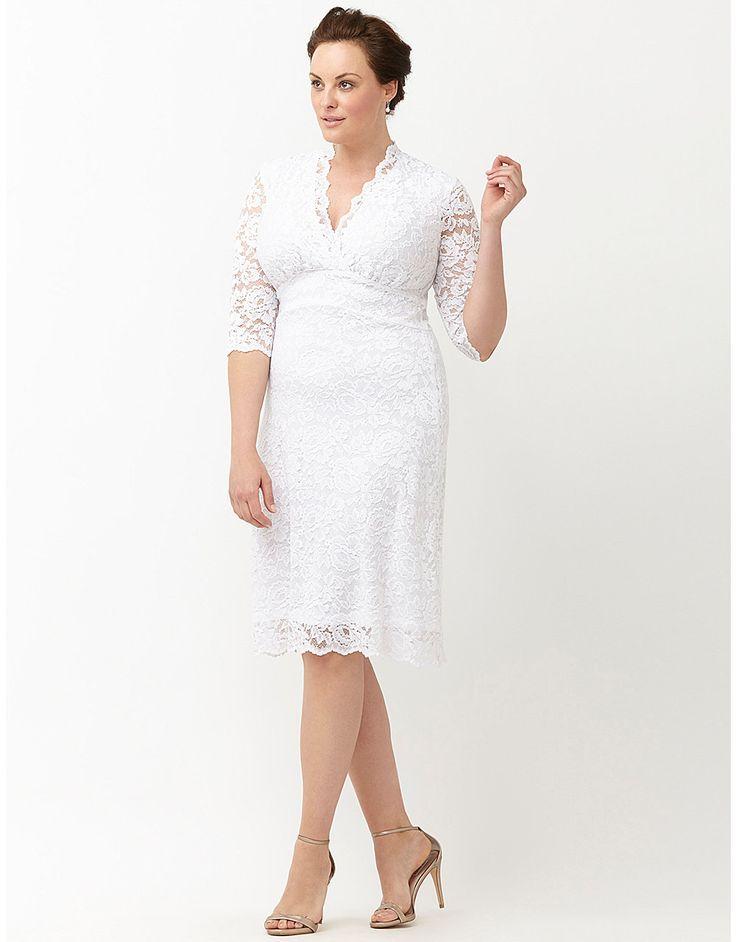 Cute Luxe Lace Wedding Dress By Kiyonna Lane Bryant Designer Formal DressesSugar Skull