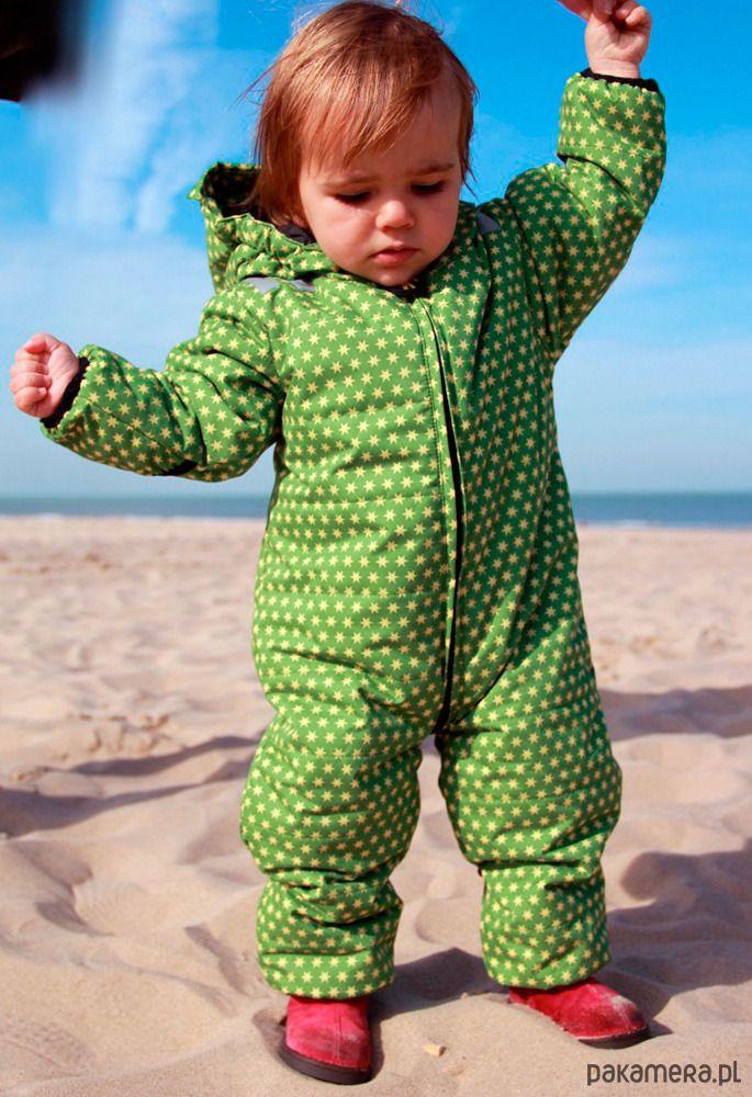 niemowlak - moda - kombinezony-Kombinezon zimowy ocieplany dla niemowląt, Green