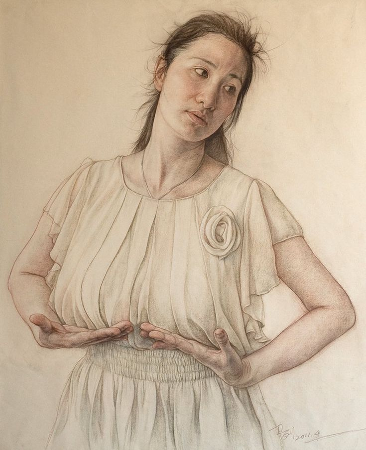 Miss jiang lin 6 portrait painting artist painting