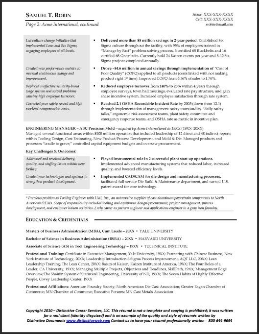 Resume Sample Harvard Business School Builder