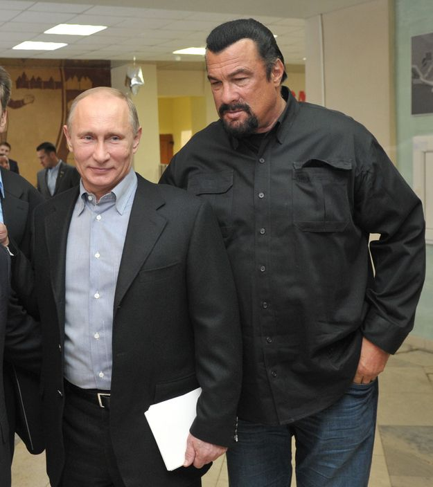One-time action movie star Steven Seagal has found a new lease on life in Russia, where he has befriended President Vladimir Putin and frequently appears in state media. | Steven Seagal Has Some Thoughts About Vladimir Putin And Ukraine