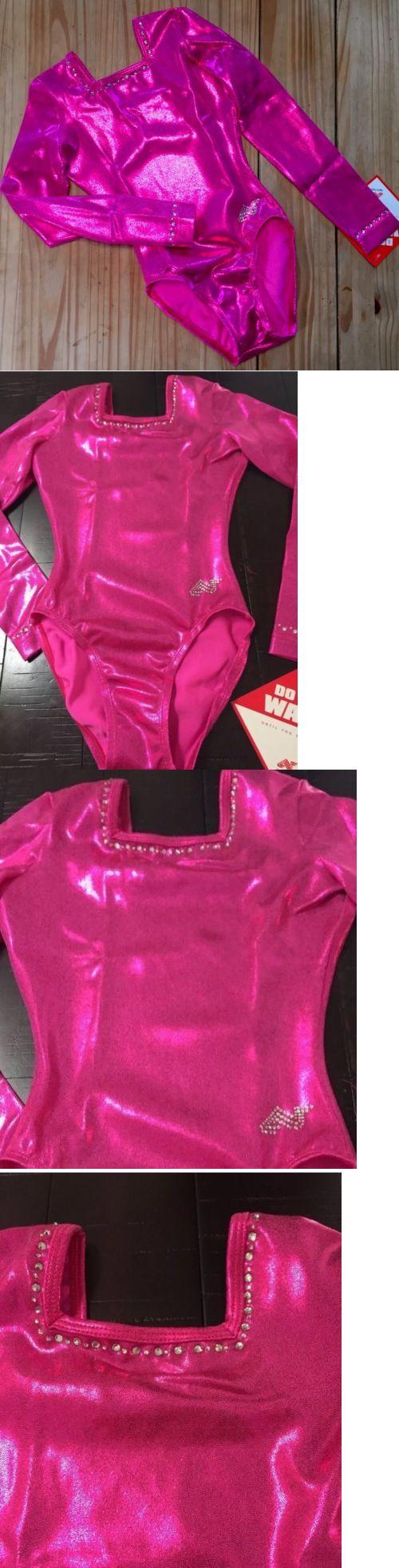Women 159169: New Alpha Factor Ariels Gymnastics Pink Leotard Rhinestones Competition Sz: Cla BUY IT NOW ONLY: $68.5