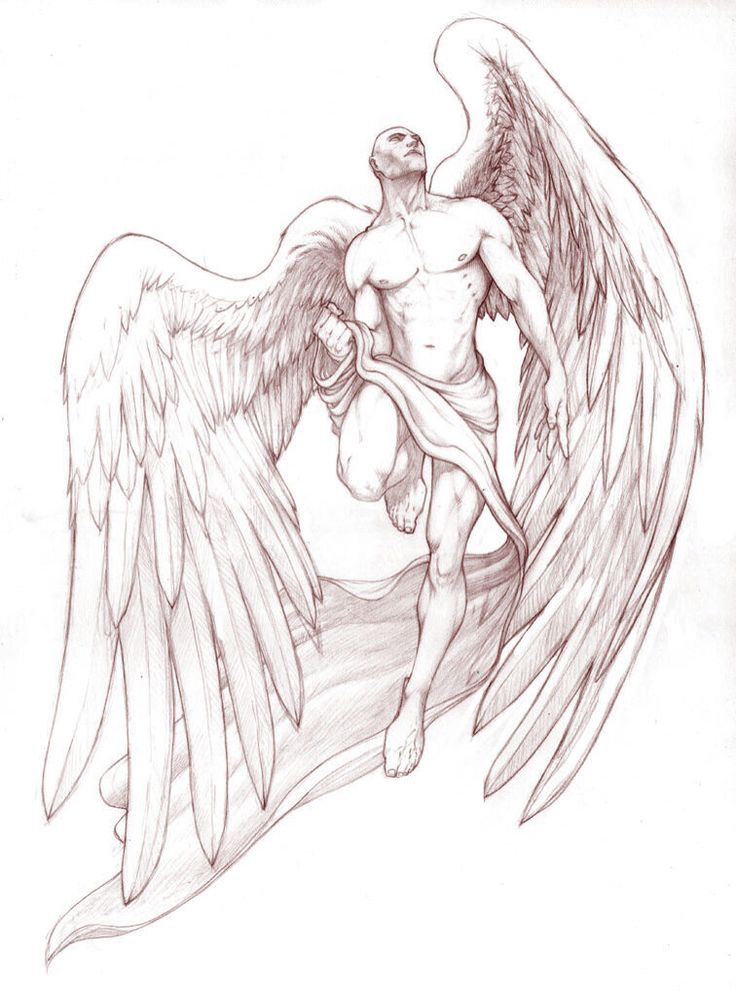 This male angel is stunning & would look great as a tattoo