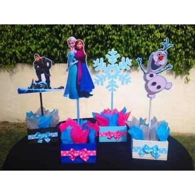 Centros De Mesa Frozen (olaf, Elsa, Anna,kristoff)decoración - BsF 180,00 en MercadoLibre