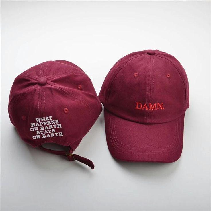 Brand New Kendrick Lamar DAMN. Burgundy Dad Hat