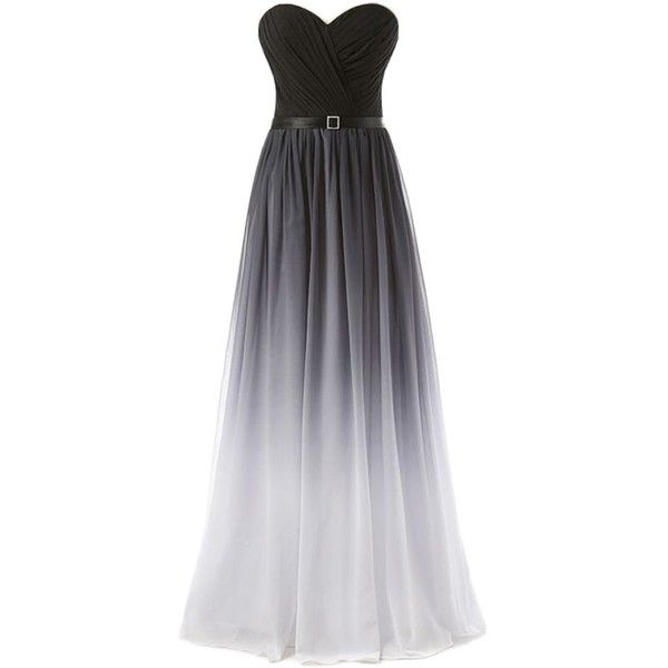 Eudolah New Gradient Colorful Sexy Ombre Chiffon Prom Dress Evening... (£49) ❤ liked on Polyvore featuring dresses, cocktail prom dress, chiffon dress, colorful cocktail dresses, multi colored prom dresses and chiffon cocktail dress