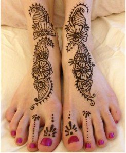 Arabic Henna for Feet