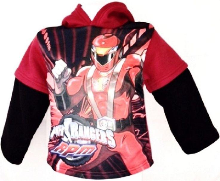 Power Rangers RPM Fleece Hoodie 2T Red #ebay #trinital #FleeceHoodie