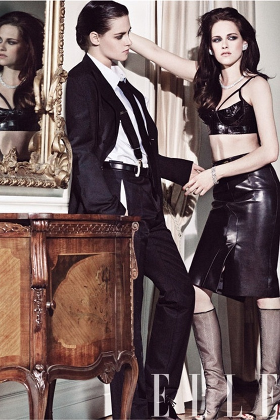 Kristen Stewart by Tom Munro for Elle Magazine Lesbian Fashion Photography
