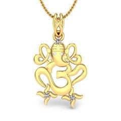 Buy Yellow Gold 18K 3.21 Diamond No Gajanan Diamond Pendant Online at Candere.com. All India free shipping plus easy interest free EMI facility with lifetime exchange offer click here ~ http://www.candere.com/gajanan-diamond-pendant.html