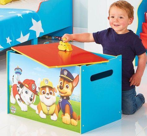 BAUL JUGUETERO PAW PATROL DE MADERA - BAULES PARA NIÑOS - 474PTR, IndalChess.com Tienda de juguetes online y juegos de jardin