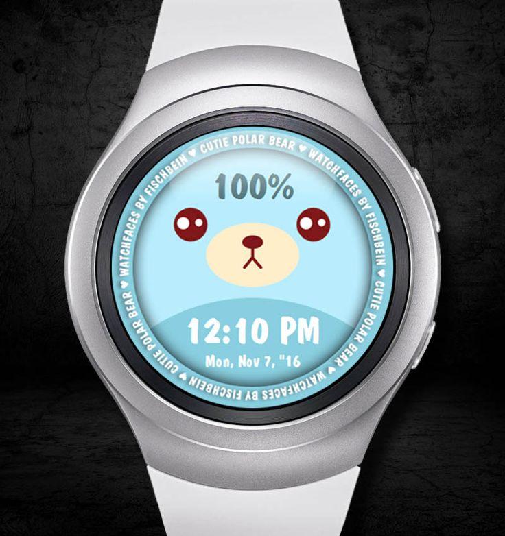Cutie Polar Bear 12h – Watchfaces by Fischbein