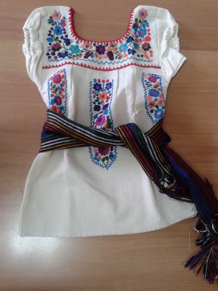 Traditional Mexican Baby Girl Dress Ma 239 A Lou