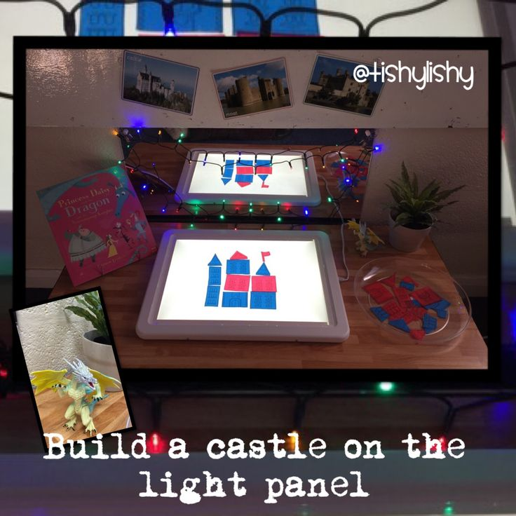 Build a castle on the light panel.