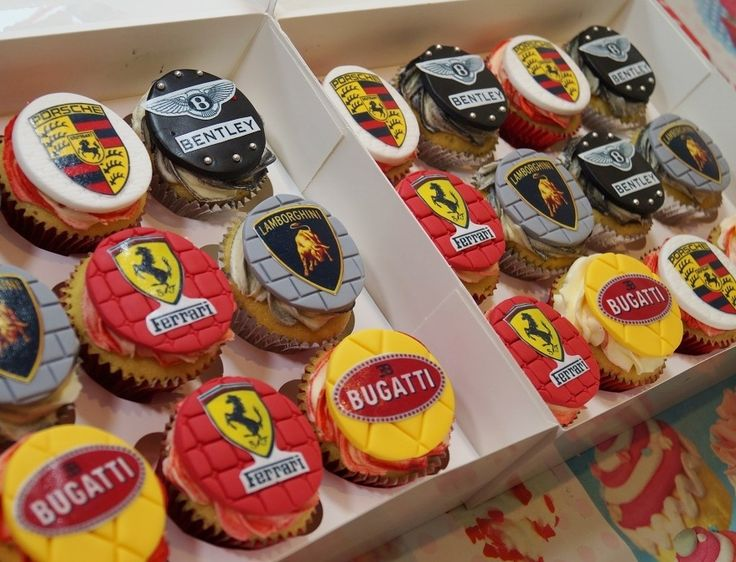 Ferrari, Bugatti, Lamborghini, Porsche & Bentley Cupcakes. Check out my YouTube Channel to see how I make some of my cakes & cupcakes along with cake decorating tutorials: Max's Cake Studio. Don't forget to subscribe it's fun & FREE!