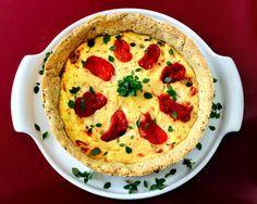 Torta de ricota com tomate seco
