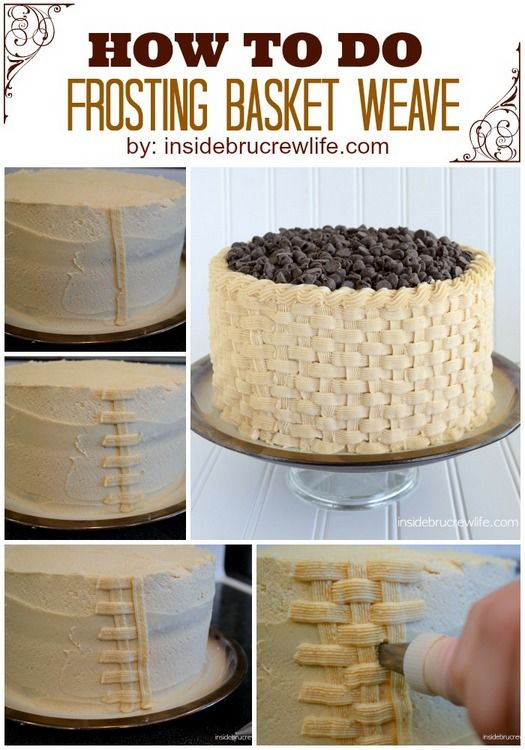 How To Basket Weave Buttercream : Best images about basket cakes on wilton