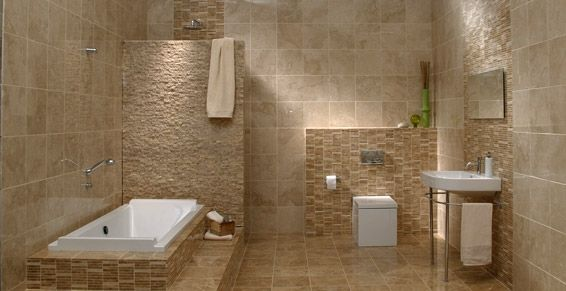 Salle de bain travertin recherche google dream house - Carrelage douche italienne castorama ...
