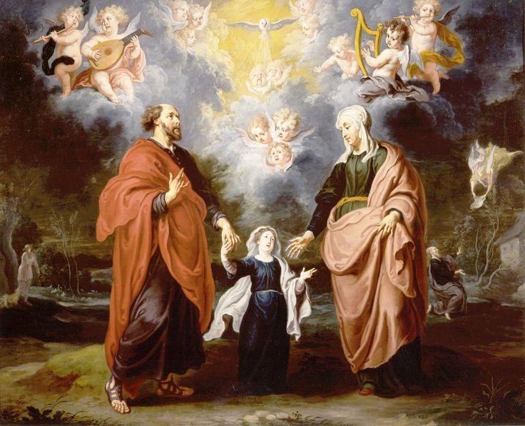 "ordocarmelitarum: "" Willem van Herp, SS. Gioacchino ed Anna con la Vergine Bambina, XVII sec., Haggerty Museum of Art, Milwaukee """