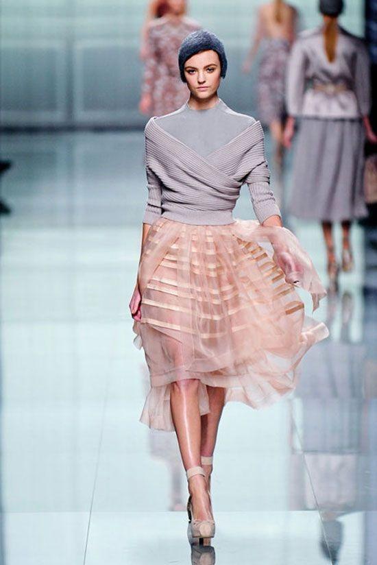 Faldas de tul en color rosa pálido. Preciosa combinación para un sweet autuum