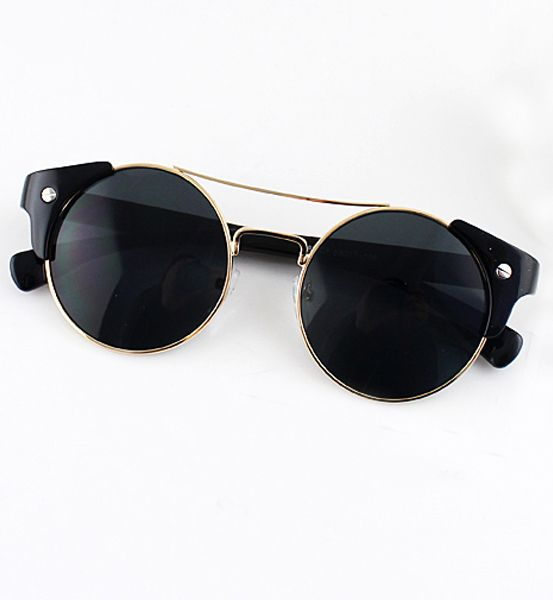 Gafas de sol lentes negro redondo 11.59