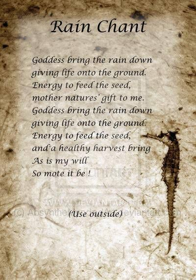 Book of Shadows:  #BOS Rain Chant page.                                                                                                                                                      More