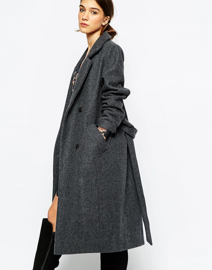 Ganni Long Tailored Belted Coat