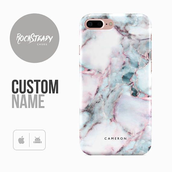 Personalised Marble Phone case, iPhone 7, 8, X, 6, 6s Plus,samsung Galaxy S8, S9 Plus, S7 Edge,SE custom name monogram case,personalized S6