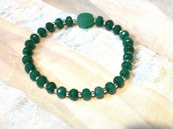Emerald Mala Bracelet With Antique Jade or by NorthCoastCottage, $89.00