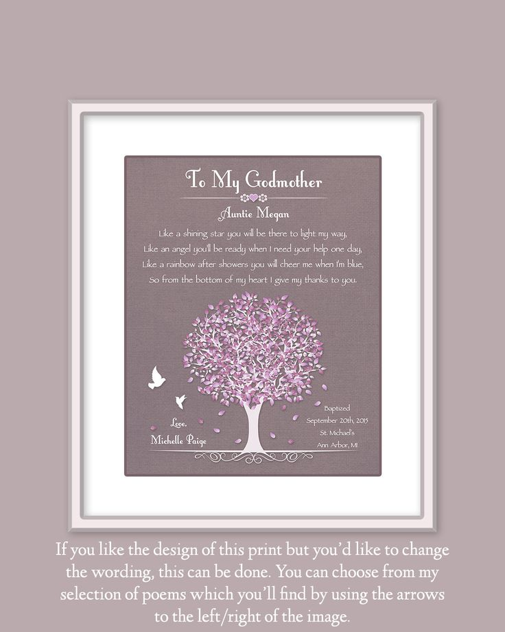 Godmother Gift Gift For Godmother Gift From by GoldHousePrints