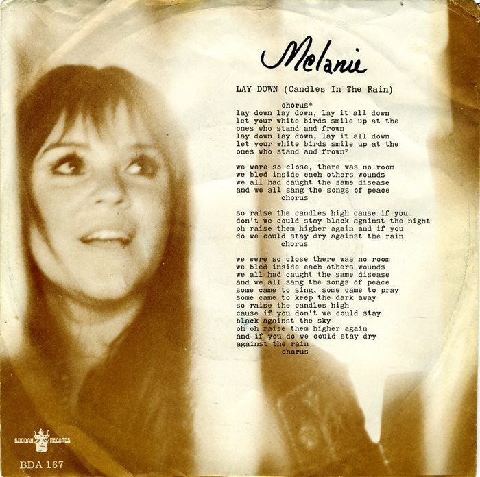 Melanie Safka - Lay Down (Candles in the Rain) Lyrics ...