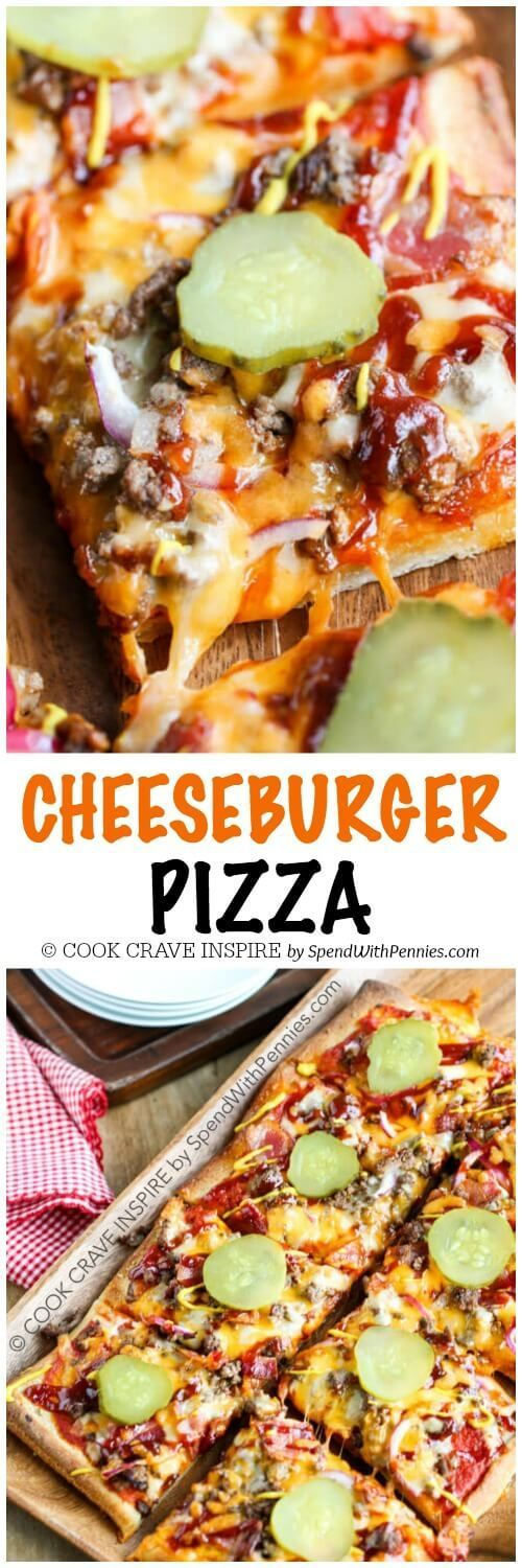 Cheeseburger Pizza is perfect for a weeknight meal or for game day! This easy meal is loaded with lean beef, bacon and two kinds of yummy cheese! Top it with all of your favorite cheeseburger toppings for a family favorite!