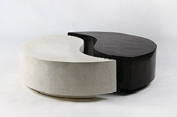 Marmeren salontafel zwart wit