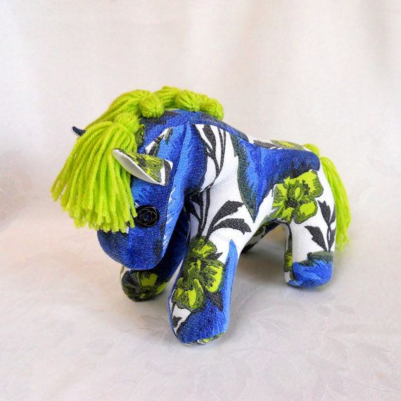 Retro Pony  a horse crafted from 60s Vintage fabric  by audreyscat, £29.00 - This is gorgeous, I would love to stock it in my shop... http://www.rosewill-cottage.co.uk/box.php