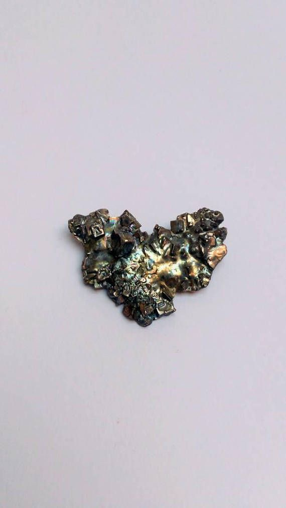 Bekijk dit items in mijn Etsy shop https://www.etsy.com/nl/listing/555615161/vintage-brutalist-meteor-brooch
