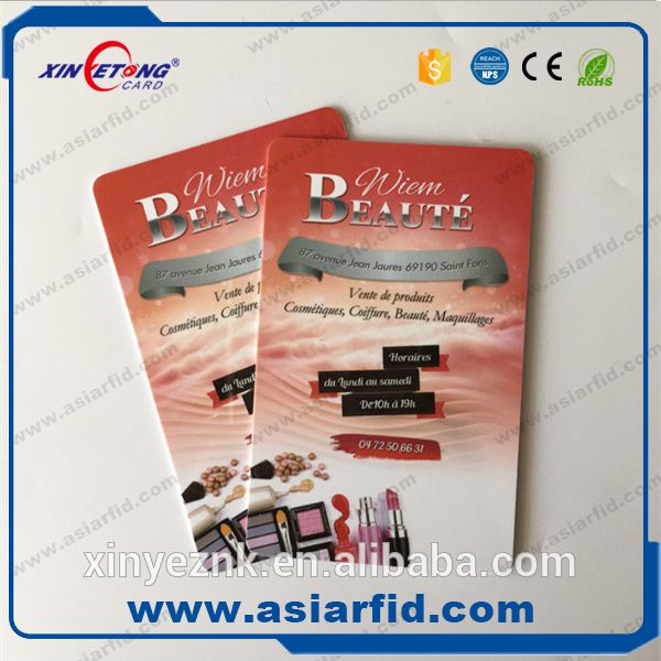 Xinyetong VIP card with printing service, long distance 125khz rfid card with encode data service