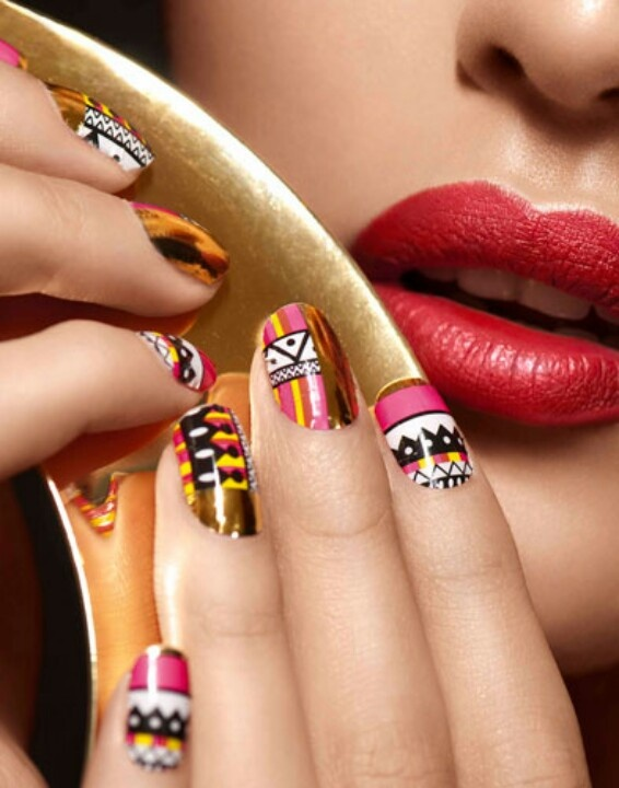 87 best African Inspired Nails images on Pinterest | Belle ...