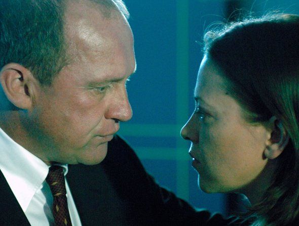 Realistic Romantic Tension: Peter Firth & Nicola Walker as Spooks, Harry and Ruth.
