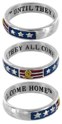 Until they all come home https://theveteranssite.greatergood.com/store/vet/item/45128/until-they-all-come-home-yellow-ribbon-sterling-ring    Love this!! May just purchase it!