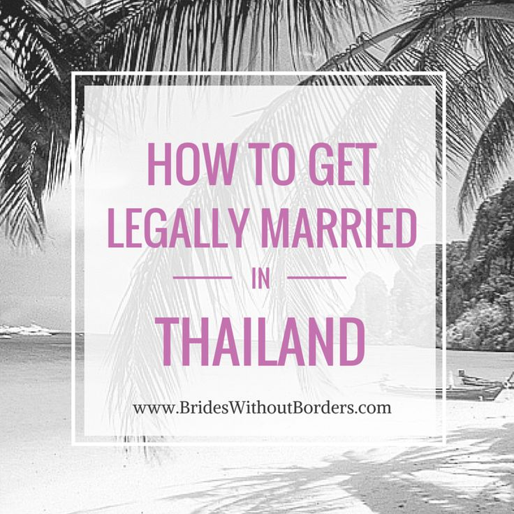 How to get legally married in #Thailand - http://www.brideswithoutborders.com/articles/destination-thailand-how-to-plan-a-legal-thai-wedding #wedding #destinationwedding