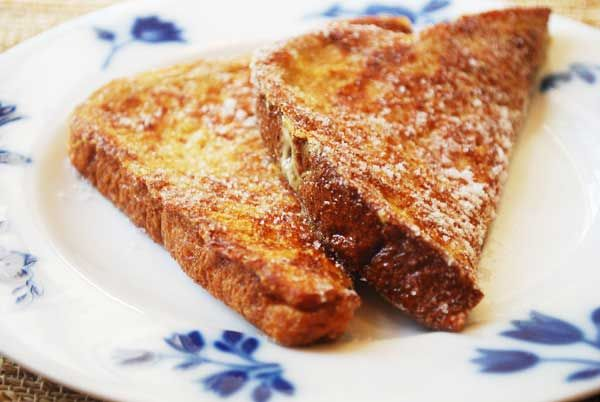 French-toast with normal whole wheat bread.  I like that you dredge it in sugar after cooking :)