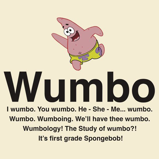 wumbo spongebob wishlist pinterest this morning