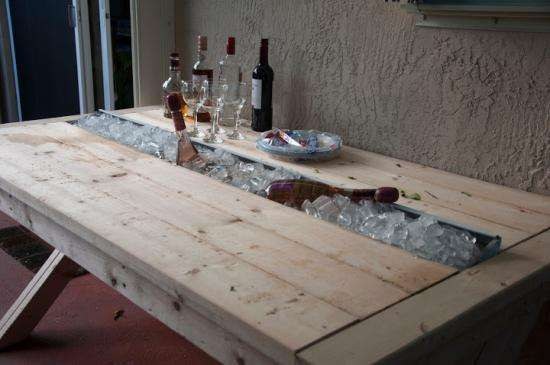 Man Cave Necessities : Man cave necessities coolers rustic table and ice