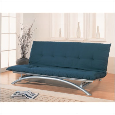Coaster Silver Metal Futon Frame   300008   Lowest Price Online On All  Coaster Silver Metal Futon Frame   300008