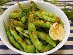 枝豆のにんにくオイル焼き☆カレー風味&だいずくんとミルクちゃん レシピブログ