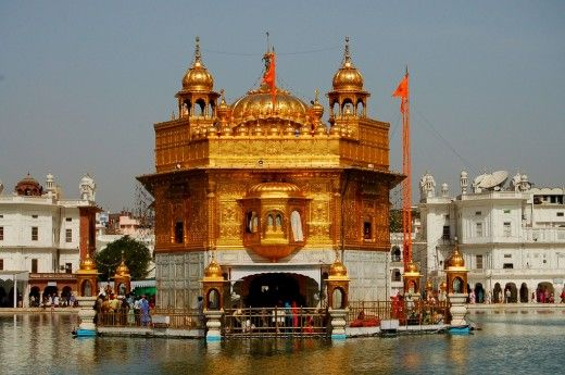 The holiest shrine of Sikhism located in the city of Amritsar, India.
