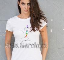 Marela - Dámské čakrové tričko - medituji :) | Originální těhotenská móda