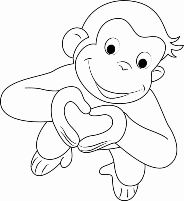 Curious George Coloring Book Lovely Free Printable Valentine S Day Coloring Pa Curious George Coloring Pages Valentines Day Coloring Page Monkey Coloring Pages